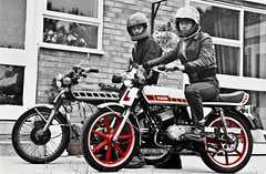 Yamaha RD 50 and FS1E 50cc (CWhatPhotos) Tags: pictures old red white colour classic bike youth that photo foto image boots photos picture motorcycles bikes images have part fotos coloring motorcycle yamaha classical biker 50 doc 1980 which 1979 dm 50cc colouring docs rd contain partial selective martens dms fizzie fs1e cwhatphotos