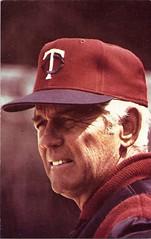 Gene Mauch (arrScott) Tags: minnesota al twins baseball postcard 1979 mlb mauch minnesotatwins americanleague genemauch