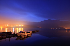Temperature of Autumn Dawn (samyaoo) Tags: sunrise taiwan    sunmoonlake    samyaoo