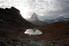 good night Matterhorn (dive-angel (Karin)) Tags: sleeping sunset sun schweiz switzerland suisse suiza zermatt matterhorn riffelsee 24mm shining eos5d