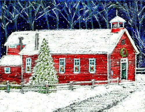 Clip Art School House. Schoolhouse Art: Snow Day!