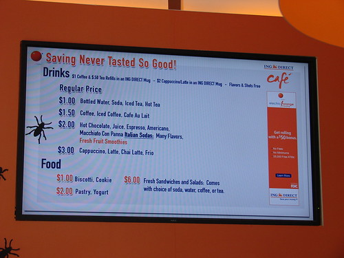 ING Direct Cafe Menu