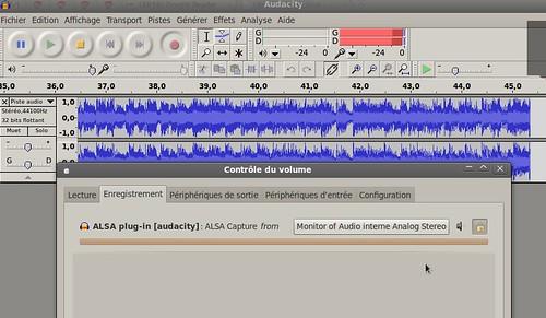 enregistrement avec Audacity