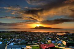 Sunrise 15 september 2010 over Trshavn - Faroe Islands (Jkup) Tags: city houses sea sun mountain color 20d colors beautiful clouds port sunrise canon landscape island islands golden amazing cityscape harbour gorgeous awesome canoneos20d ev handheld fjord isle epic hdr faroeislands faroe litir trshavn froyar frerne incredable frer nlsoy slarris worldlandscapes 1855mmis  ilhasfaro       insulelefaroe