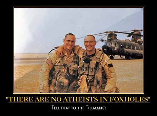 atheist in foxholes tillman