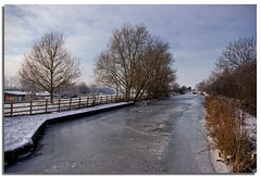 Frozen view from Seend Park Farm swing bridge looking the other way Christmas day 2010 (lovestruck.) Tags: uk winter england snow cold ice river countryside canal frost fields p wiltshire kennetandavon navigation ka 2010 seend pentaxk10d seendcleeve