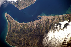 Another strait. Which one? (astro_paolo) Tags: italy nasa iss esa internationalspacestation earthfromspace europeanspaceagency messinastrait expedition26 magisstra