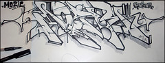Mozie / Geser (GESER 3A) Tags: white black pen ink paper sketch 3a un crew exchange geser mozie