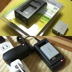 デジイチのバッテリーの充電器。紛失のため急遽購入