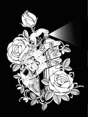 T.U.P.H (taiom) Tags: rose tattoo hand rosa spray mão pixo camisa taiom