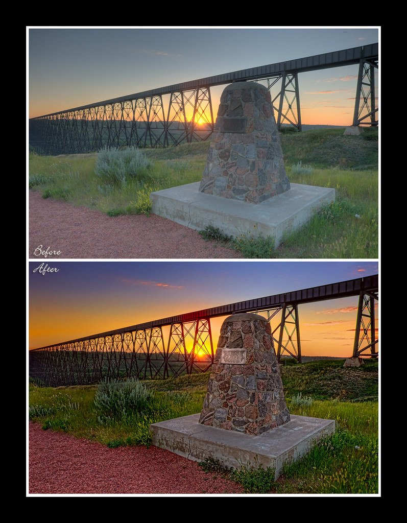 High Level Bridge - Before/After