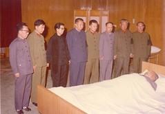 毛泽东去世现场的照片