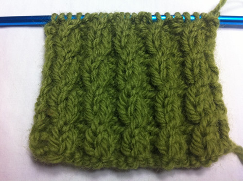 How to Knit The Twisted Cable Rib Stitch NEW STITCH A DAY