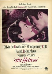 Movie The Heiress 1949 (Nesster) Tags: pictures vintage movie ad advert 1949 paramount motionpicture montgomeryclift oliviadehavilland theheiress williamwyler advertiesement ralphrichardson