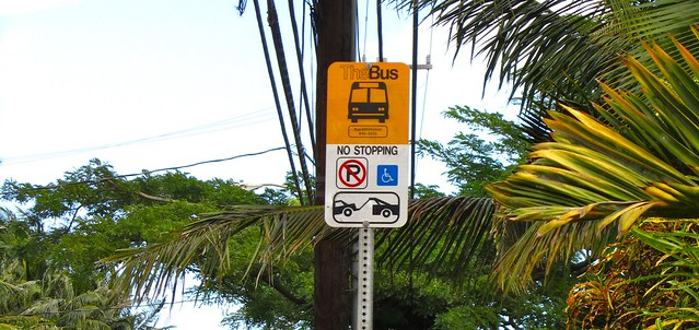 Bus Stop, Hawaii, Oahu, North Shore