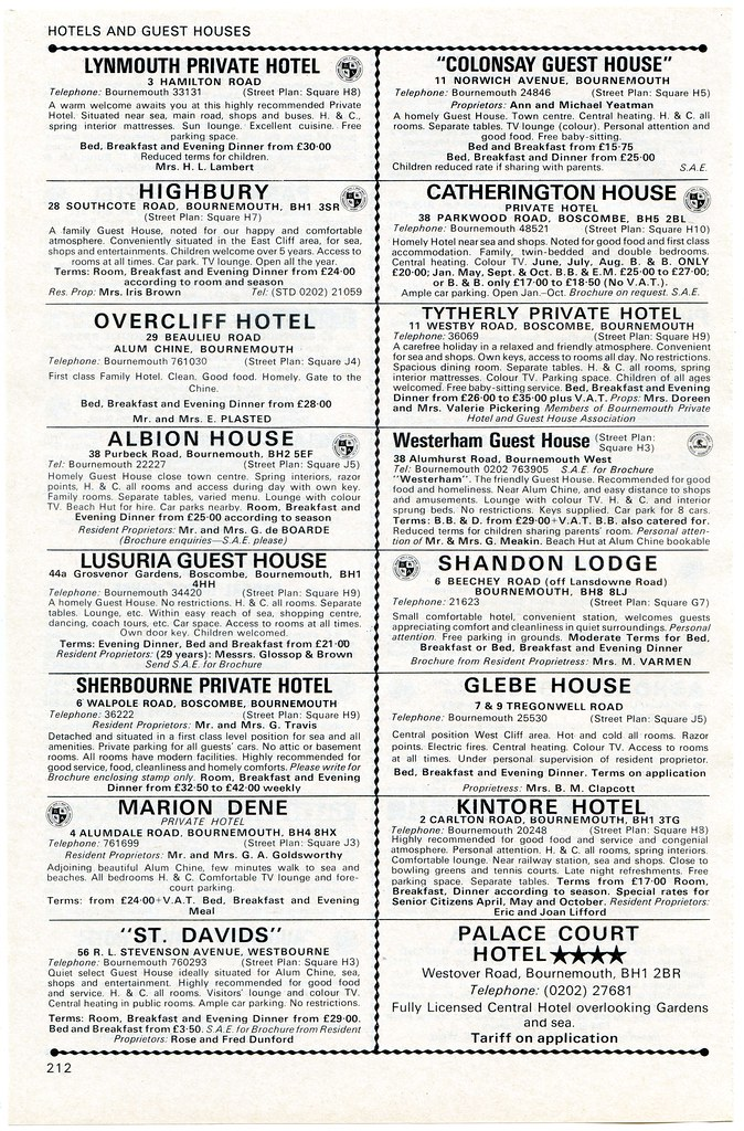 1977 Bournemouth Guide page 212