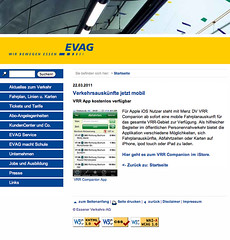 Screenshot evag.de: VRR Companion