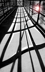Off Line (floralgal) Tags: light blackandwhite distortion abstract reflection lines contemporary shadesofgray curvylines