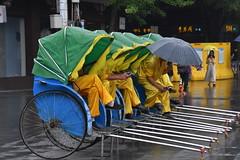 Rainy day in Nankin... ( Explored ) (eowina) Tags: nankin taxi rickshaw waiting