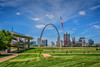 Gateway Arch from Mississippi River Overlook - East St Louis IL (mbell1975) Tags: eastsaintlouis illinois unitedstates us gateway arch from mississippi river overlook east st louis il usa america park american flag flagge skyline city