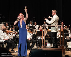 Storm Large singing with San Francisco Symphony (Tex Texin) Tags: fourthofjuly mountainview sanfranciscosymphony shorelinepark fireworks independenceday stormlarge redhead ginger singer musician bluedress blue rockstar supernova instagram