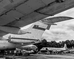 Old Sultan of Omans VC10 - 03/07/17 (_through_the_lens) Tags: bnw airplane aircraft black white edit lightroom airplanelovers aviation royalty art clouds scene landscape park museum brooklands engine beauty follow followme