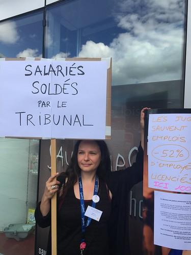 Grève à Sauramps Odyssée