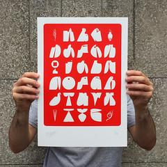 """Bilos A to Z 2017 - Red"" (Bilos Mantho) Tags: silkscreen screenprint limited print printisnotdead alp alphabet forms"