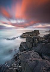 Last Light 2 (Calum Gladstone) Tags: northumberland craster blackhole seascape sunset rocks sea sky clouds longexposure leefilters manfrotto canon6d
