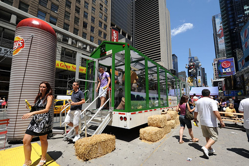 Lay's Mobile Farm in New York's Times Square