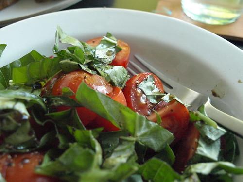 basil + tomato