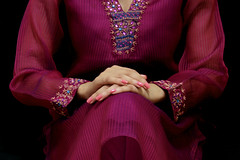 Patience (neelgolapi) Tags: canon hands purple salwarkameez aarong wearingthin
