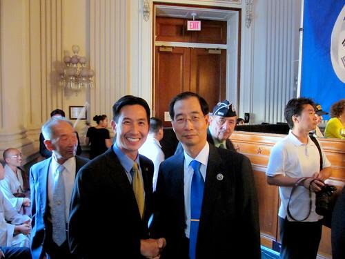 Congressman Djou and Ambassador Han Duk-soo of the Republic of Korea by RepCharlesDjou.