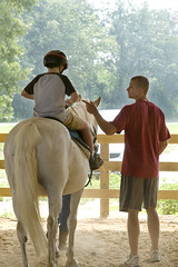 Austing helps Andrew (Montgomery Area Nontraditional Equestrians (MANE)) Tags: al mane pikeroad