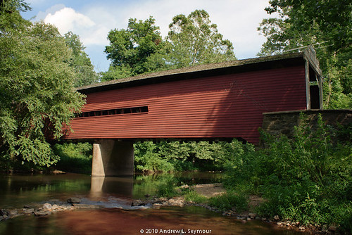 Sheeder-Hall Covered Bridge (Exterior Long View Down Creek) HDR