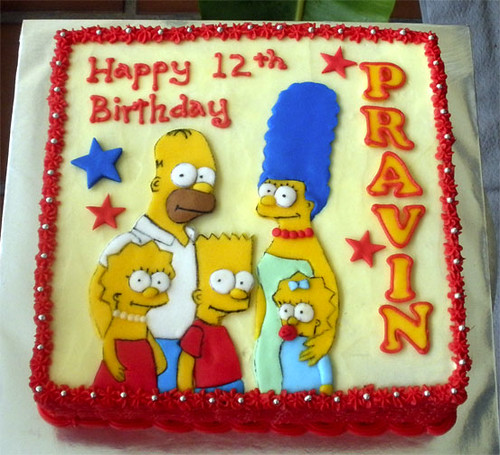 The Simpsons Cake Pravin
