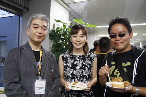 With Ishizaka-san and the emcee lady