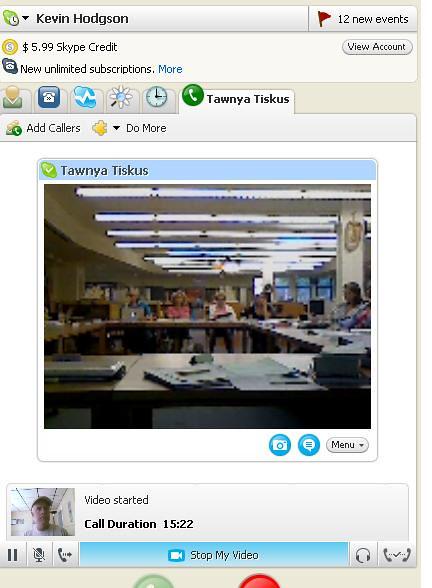 skype into class