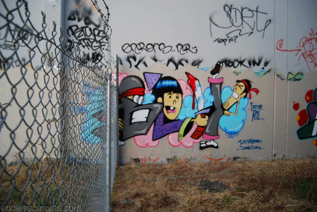 Bely Graffiti piece in the East Bay California.