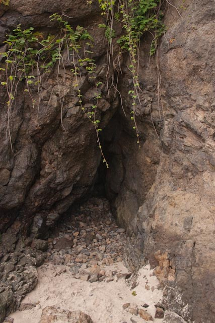 Crevice in Proposal Rock