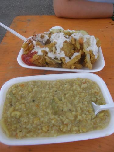 Kitri and pakoras