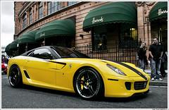 Ferrari 599 GTB Fiorano Novitec Rosso (rubmifer) Tags: uk england horse london yellow canon is italian united kingdom ferrari harrods 1d 200 l 28 mm tuner 70 rosso f28 ef gtb mkii 70200mm arabs 599 fiorano novitec