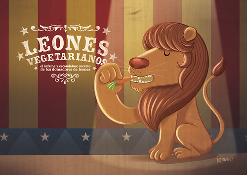 león vegetariano