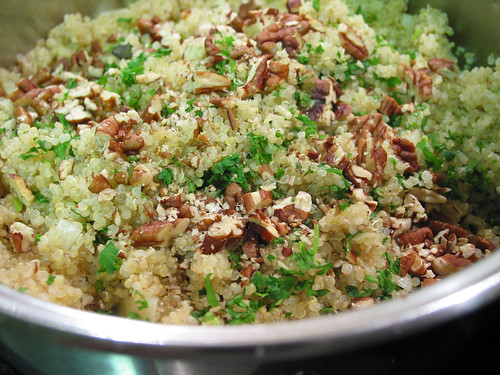 quinoa pilaf with roasted pecan