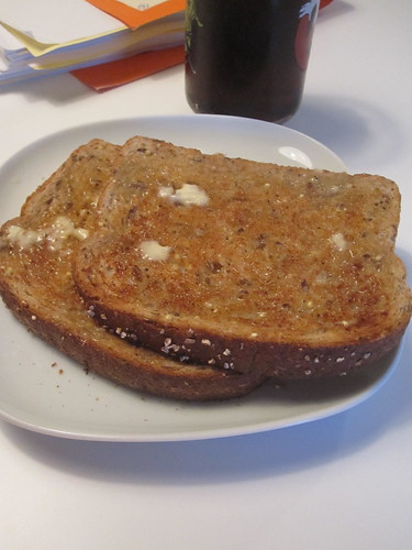 Buttered toast and soda