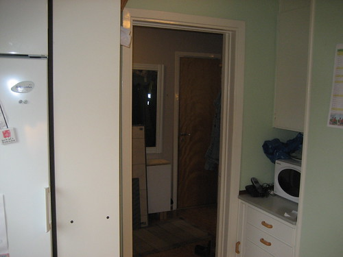 7. Before - the fridge side towards the entrance hall