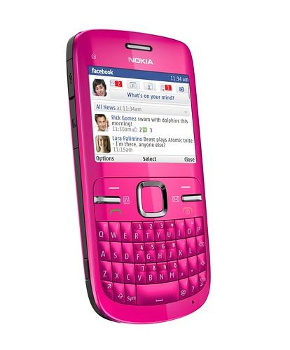 Nokia C3-00 Pink. Nokia C3