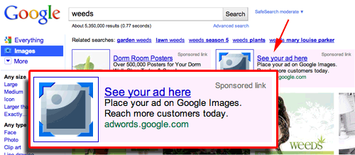 Google Ad for Ad