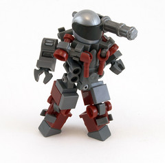 Blood Skull Adaptable Power-Suit (Titolian) Tags: skull blood power lego suit minigun adaptable brickarms