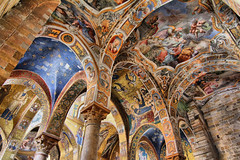 Church La Martorana Palermo (Ted Dobosz) Tags: church canon hand angle wide arches norman tokina sicily held ornate palermo atx martorana 550d 1116mm